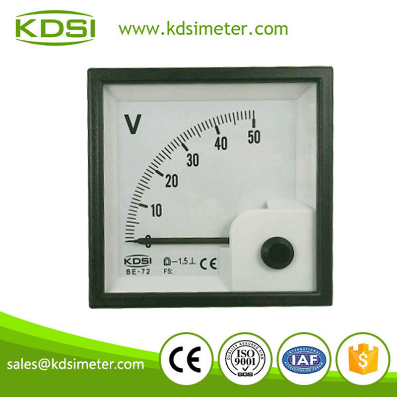配电柜用指针方形直流电压表 be-72 dc50v